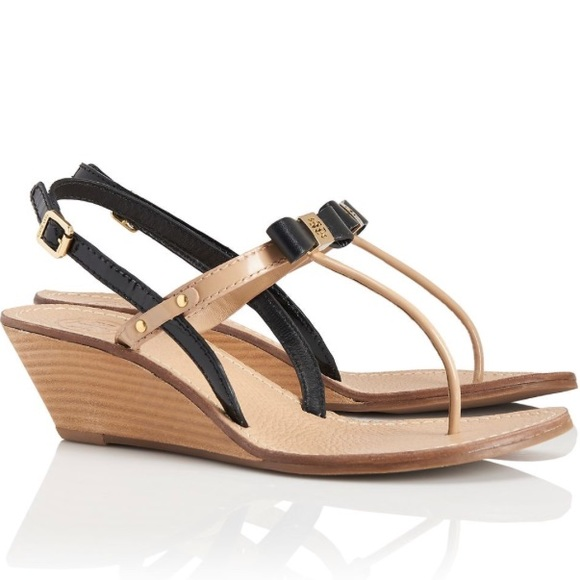 e8d323abdb77 Tory Burch Kailey Wedge Thong Sandals Size 8